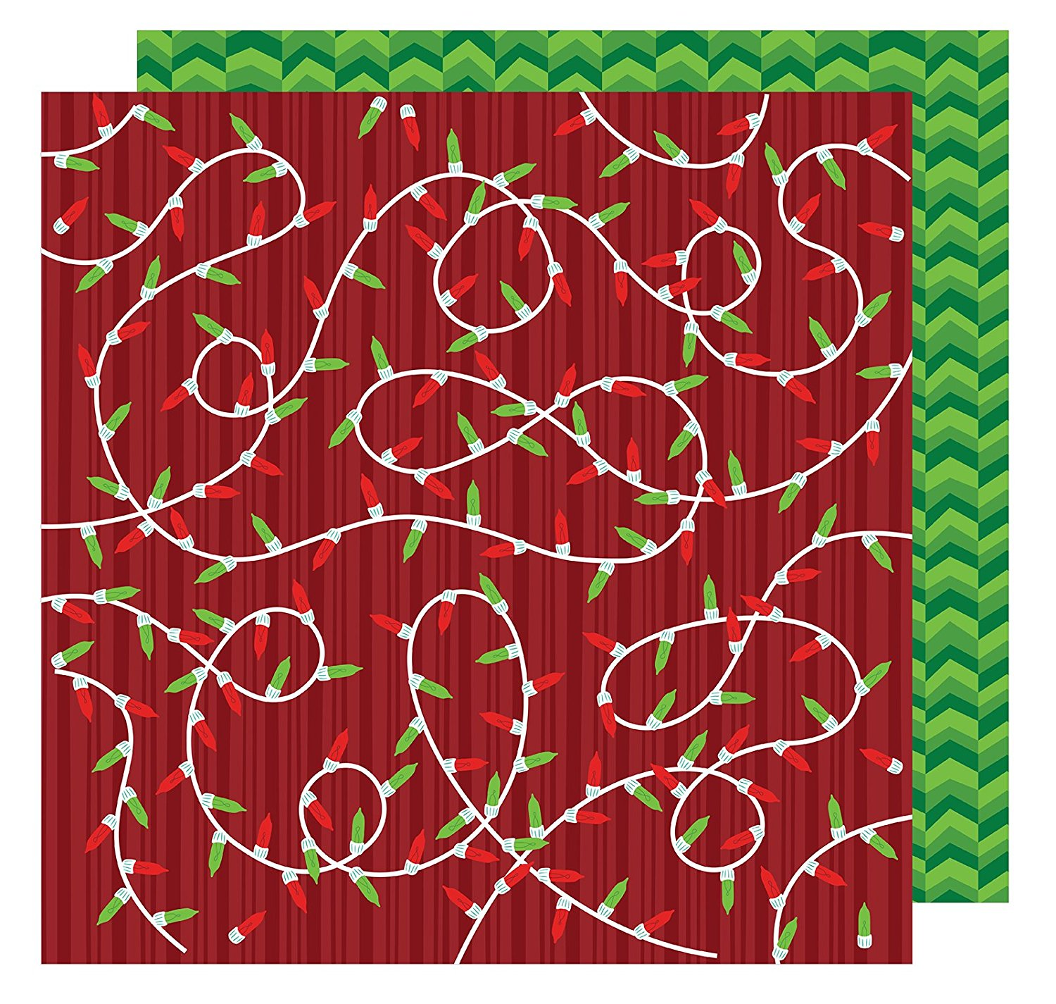 American Crafts All Wrapped Up Collection Christmas 12 X 12 Double Sided Paper Merry And Bright