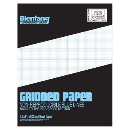 bienfang designer grid paper 50 sheets 8 12 inch by
