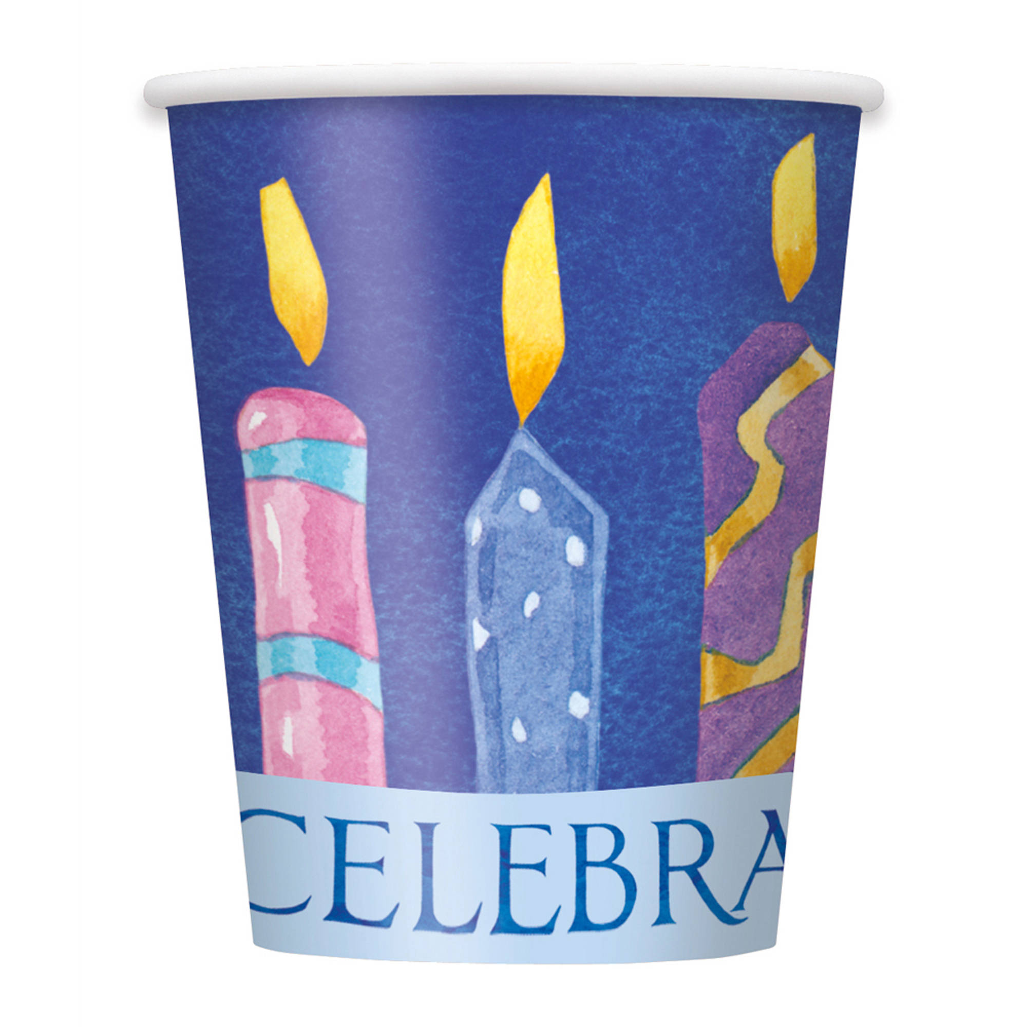 9-Ounce Hanukkah Celebrate Paper Cups, 8-Count