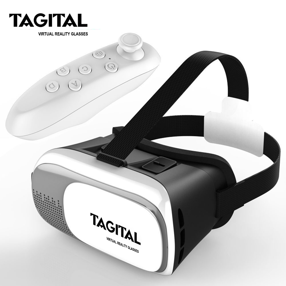 "Tagital VR Virtual Reality Headset 3D Glasses Adjust Cardboard VR BOX For 3.5~6.0"" Smart Phones iPhone 6/6 plus Samsung Galaxy IOS Android Phones"