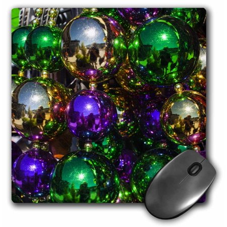 3dRose Louisiana, New Orleans, Market, Mardi Gras beads - US19 WBI0182 - Walter Bibikow, Mouse Pad, 8 by 8 inches