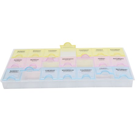 AM NOON PM 7 Day Weekly Tablet Pill Box Medicine Dispenser Organizer Holder