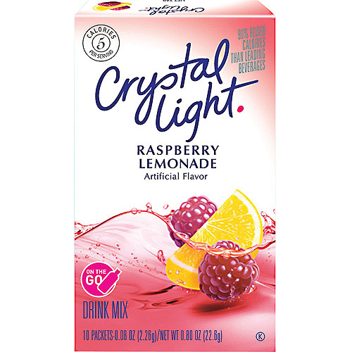 Crystal Light On The Go Raspberry Lemonade Sugar Free Soft Drink Mix, 10ct