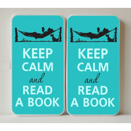 Keep Calm and Read a Book Hammock - White Taiga Hinge Wallet Clutch