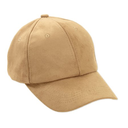 Suede Vintage Cap (Women's Faux Suede Baseball)
