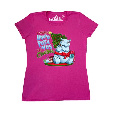 I Want Hippopotamus For Christmas.I Wanna Hippopotamus For Christmas Cute Hippo Women S T Shirt