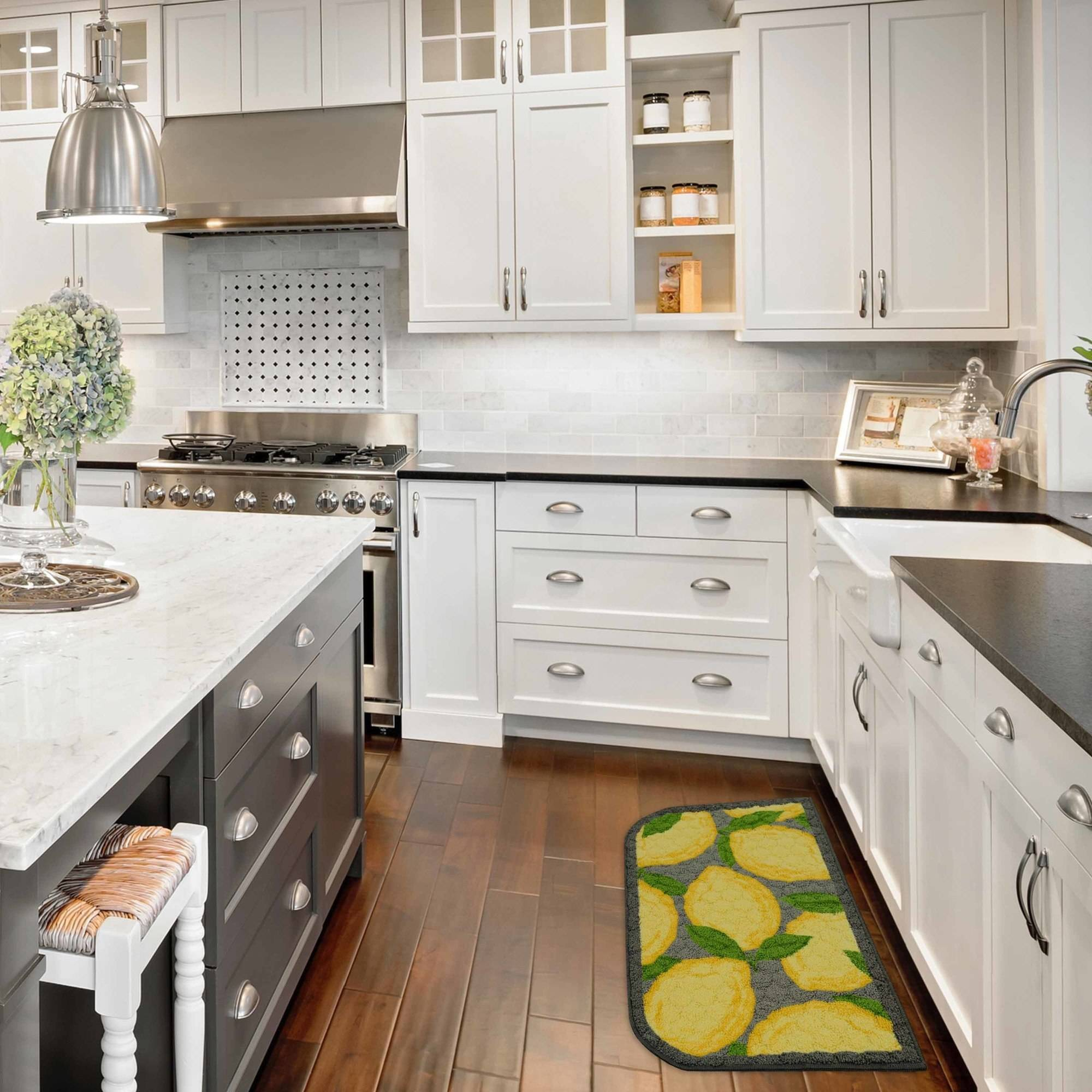 Great Better Homes And Gardens Lemon Kitchen Rug   Walmart.com