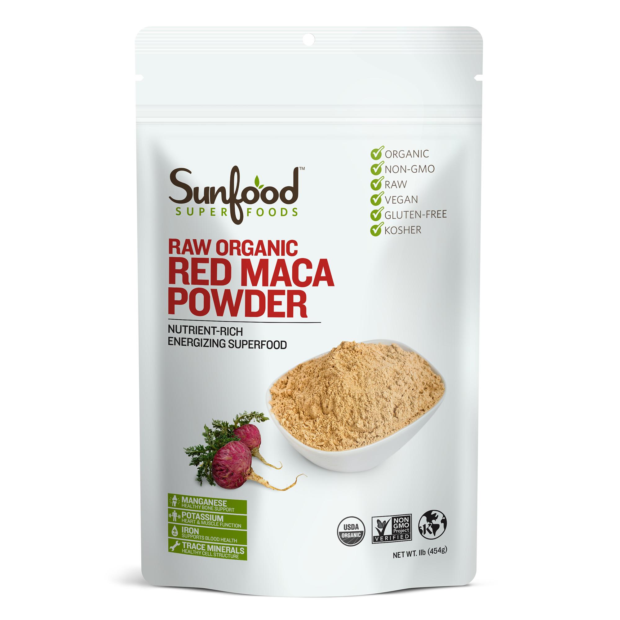 Sunfood Superfoods Organic Red Maca Powder, 1.0 Lb