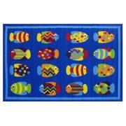 """Fun Rugs Fun Time Fish Tank Kids Rugs 19"""" x 29"""" Rug"""