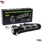 Roadside Rescue 9-IN-1 Multi-Function Solar Powered Flashlight / Survival Tool