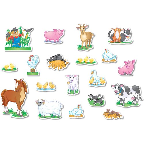 Northstar Teacher Resource Farm Animals Bulletin Board Cut Out