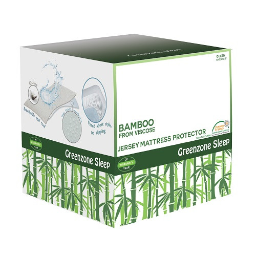 Greenzone Sleep Jersey Bamboo Rayon Mattress Protector