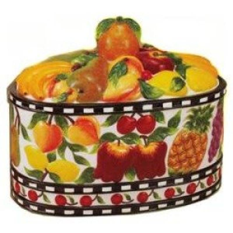Fruit Delight Cookie Jar, Food Storage, Kitchen Decor