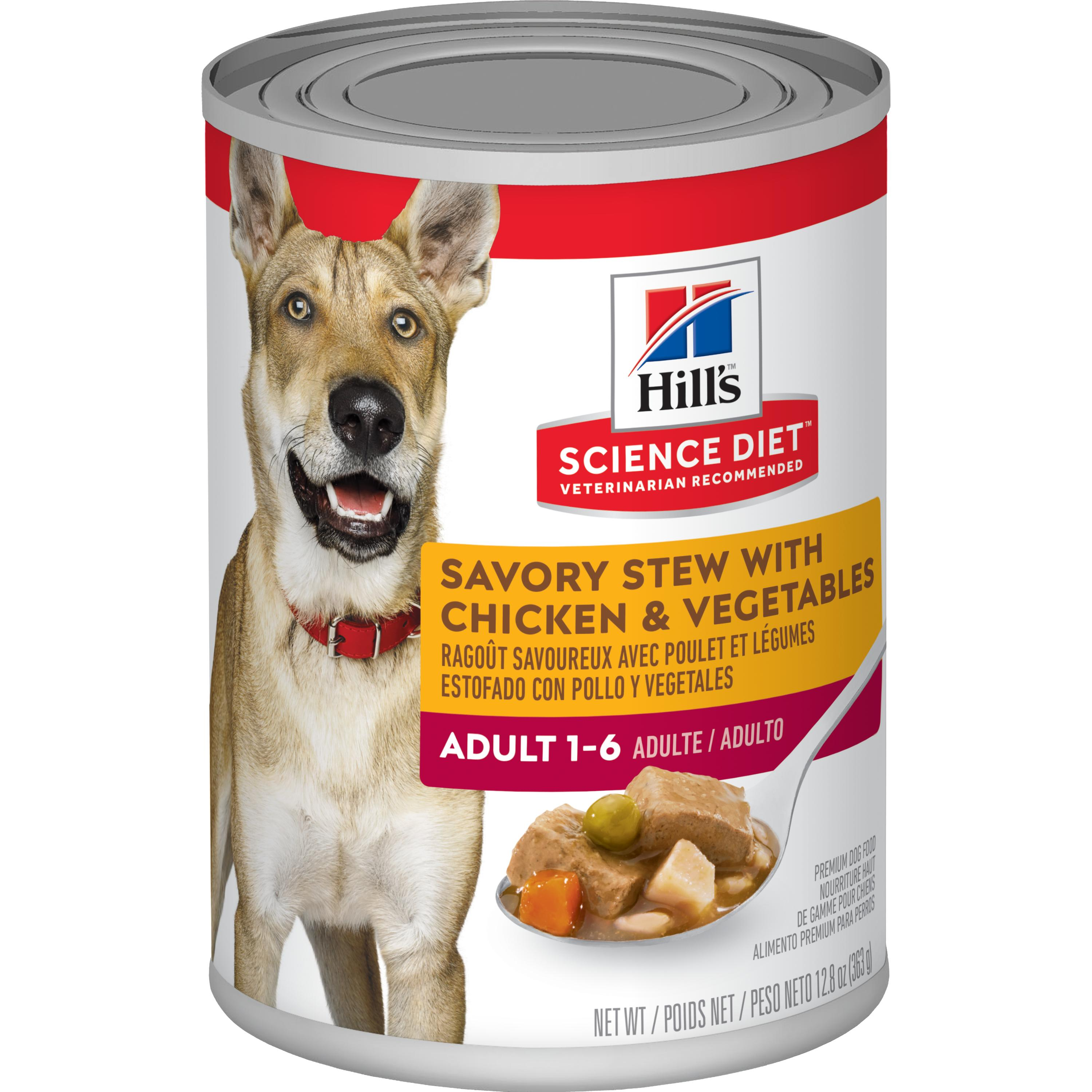 Hill's Science Diet (Spend $20, Get $5) Adult Savory Stew with Chicken & Vegetables Wet Dog Food, 12.8 oz, 12-pack (See description for rebate details)