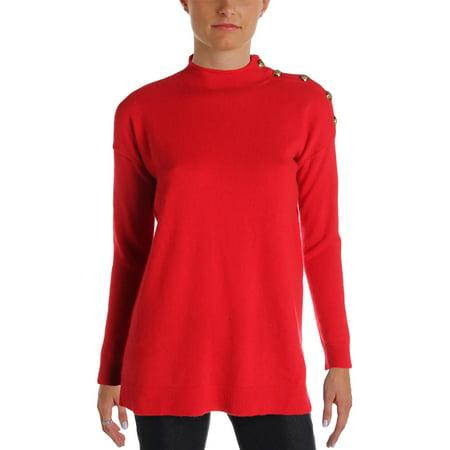 - Lauren Ralph Lauren Womens Cashmere Mock Neck Pullover Sweater