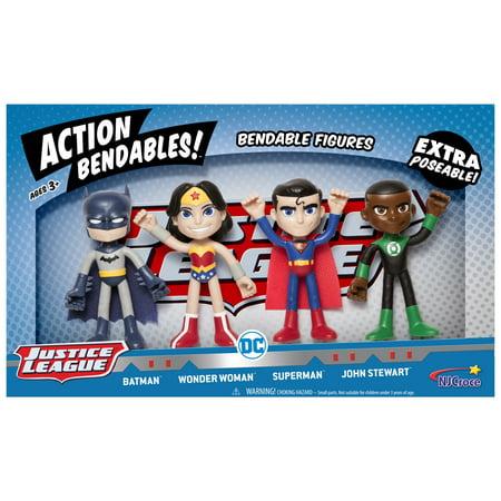 NJ Croce DC Comics ACTION BENDALBES! - 4 Piece Justice League 4