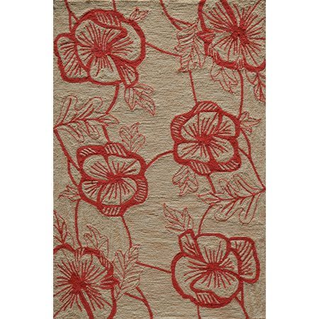 Momeni Summit Coral Hand-Hooked Rug (2' X 3')