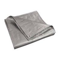 ALEKO TR10X20SL 10' x 20' Heavy-Duty Tarp Multi-Purpose All-Weather Polyethylene Tarpaulin, Silver