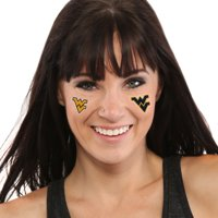 West Virginia Mountaineers 8-Piece Value Pack Waterless Face Tattoos