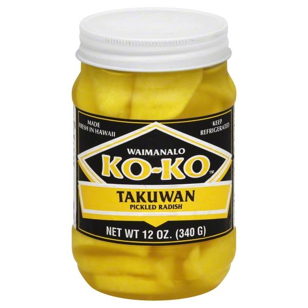 Waimanolo Ko Ko Koko Takuan Sliced