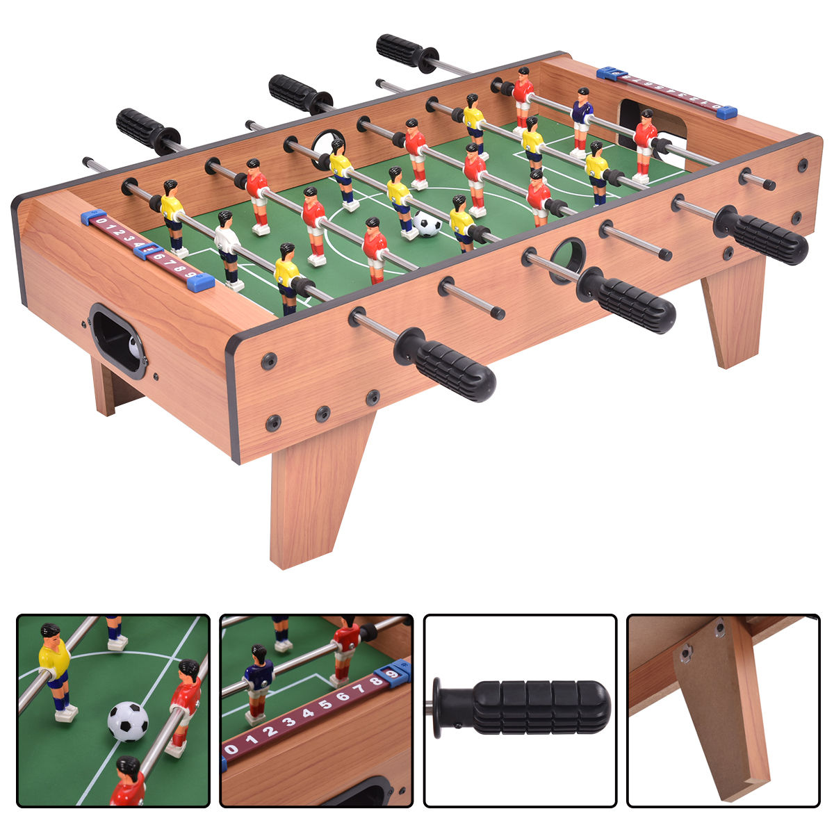 Costway 27'' Foosball Table Competition Game Room Soccer football Sports Indoor w  Legs by Costway