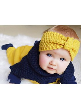 89df378462a Product Image 4Pcs Baby Headbands Soft Comfortable Knotted Bow Wool Knitting  Turban Headbands for Baby Newborn Toddlers Boys