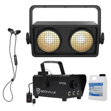 Chauvet Shocker Dual Zone Dance Floor COB LED Blinder Stage Light+Fogger+Earbuds - Dance Floor Giveaways