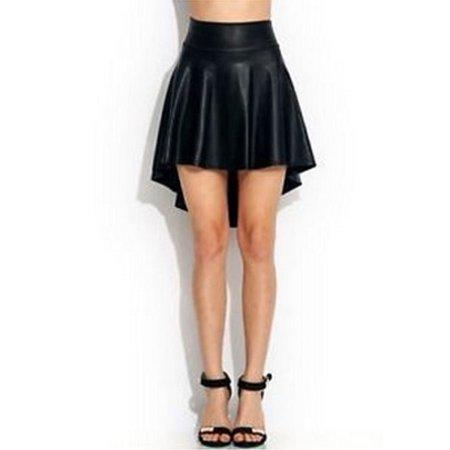 512ef51465c EFINNY - EFINNY Women s Summer Sexy Faux Leather High Waist Mini Skirt -  Walmart.com