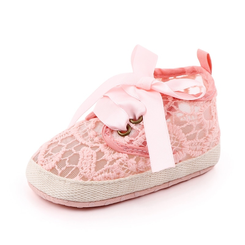 Newborn Baby Girls Shoes Bowknot Soft Sole Crib Shoes First Walkers