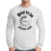 Awkward Styles Men's Dad To Be Loading Please Wait Graphic Long Sleeve T-shirt Tops New Dad Gift Father's Day