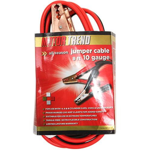 Motor Trend 8' Jumper Cables with Clamps