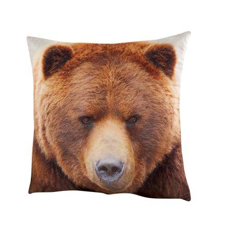 (Northwoods Bear Accent Toss Pillow)