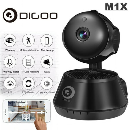 Digoo Smart Wireless WiFi Network IP Camera Baby Monitor CCTV with Night Vision IR Motion Detection &Two-Way APP Control & NVR Video Recorder for Home (Glass Camera App)