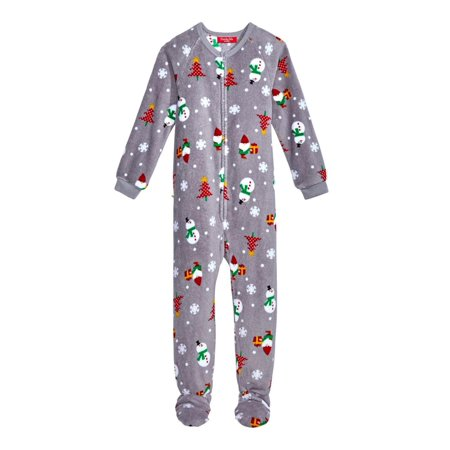 Christmas Footie Pajamas For Kids.Family Pjs Gnomes Kids Christmas Footed Pajamas