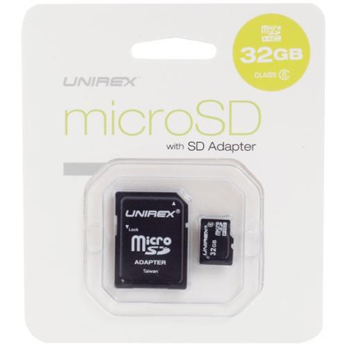 Unirex 32GB Micro SD Card with SD Adapter