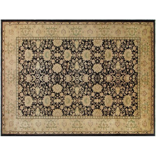 Isabelline Grigori Hand Knotted Wool Black Gold Area Rug Walmart Com