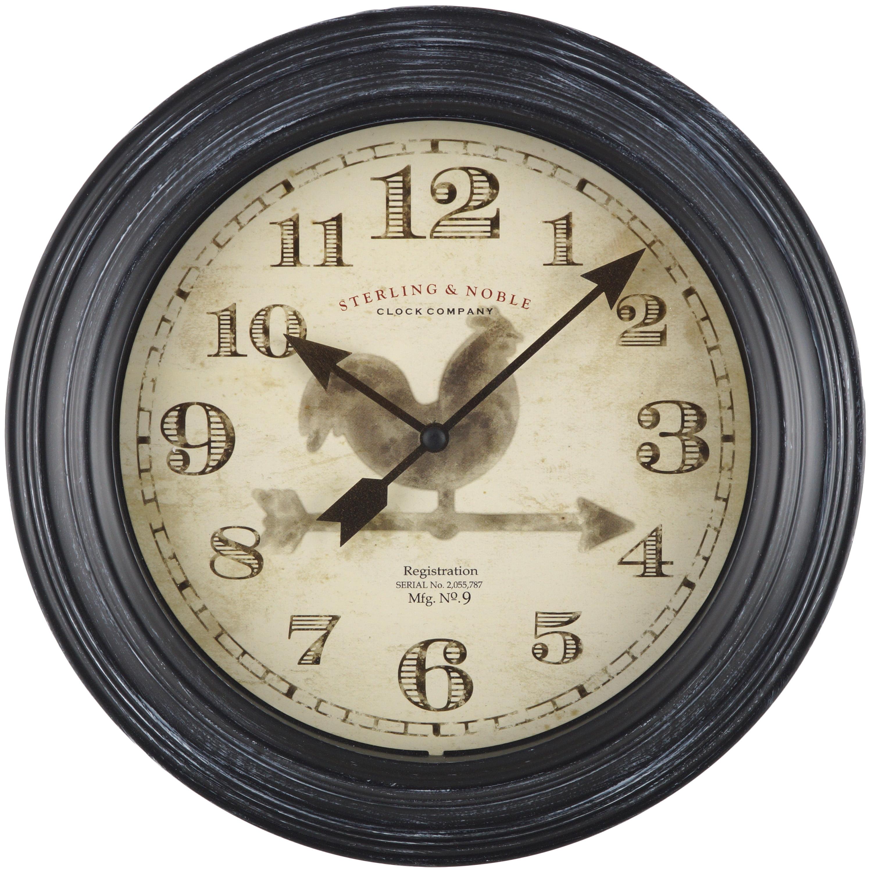 Mainstays 11 5 Quot Rooster Wall Clock Walmart Com