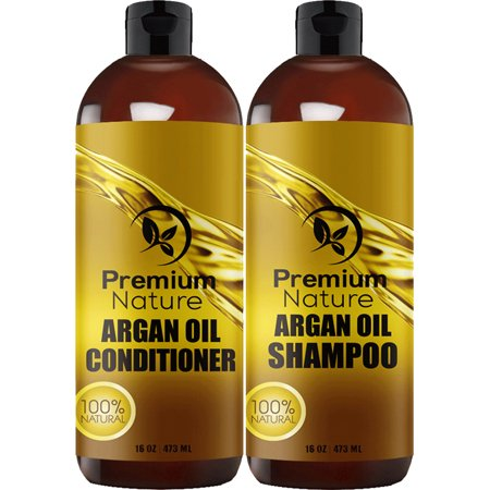 Argan Oil Shampoo and Conditioner Set - Sulfate Free All Natural Hair Repair Treatment Clarifying Volumizing & Moisturizing Color Safe for Curly & Color Treated Hair Limited Edition 2.0 16 oz (Moisturizing Shampoo And Conditioner For Natural Hair)