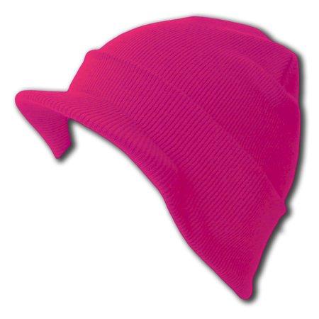 f730fa7f970 Hot Pink Cuff Beanie Visor Jeep Cap