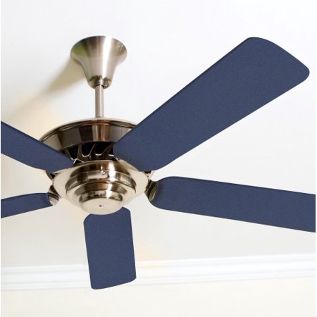 solid navy blue fancy blade ceiling fan blade covers home decor baby decor. Black Bedroom Furniture Sets. Home Design Ideas