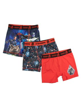 Boy's Marvel Avengers 3-Pack Underoos Poly Boxer Brief