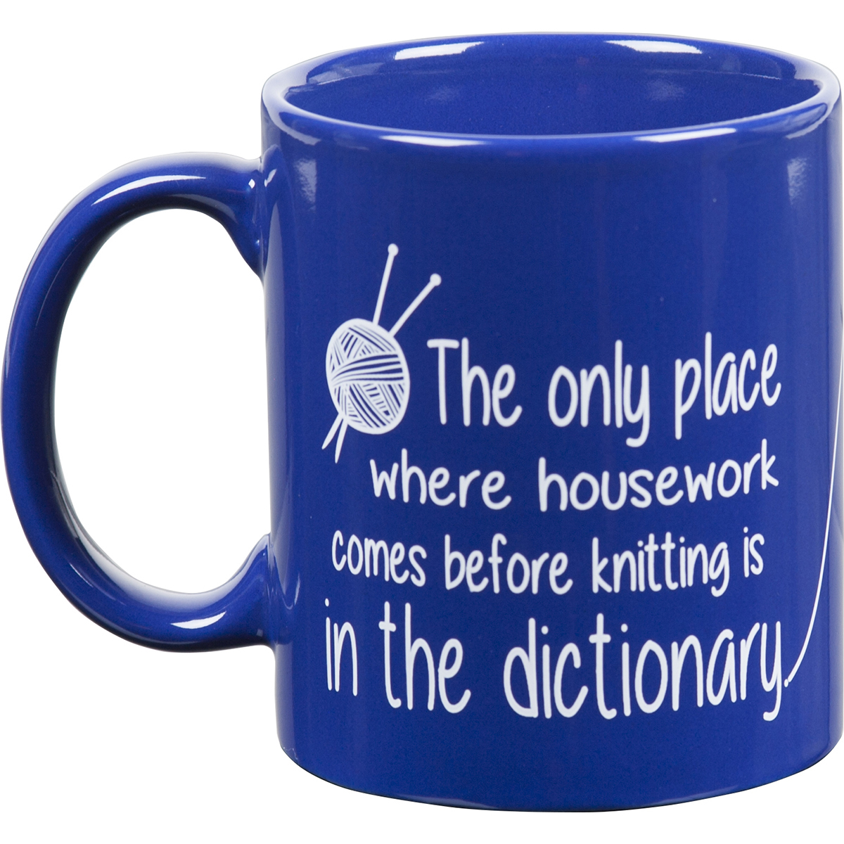 Knit Happy Blue Mug 11oz-Dictionary