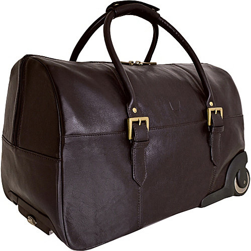 Hidesign Charles Leather Wheeled Travel Weekend Luggage Bag