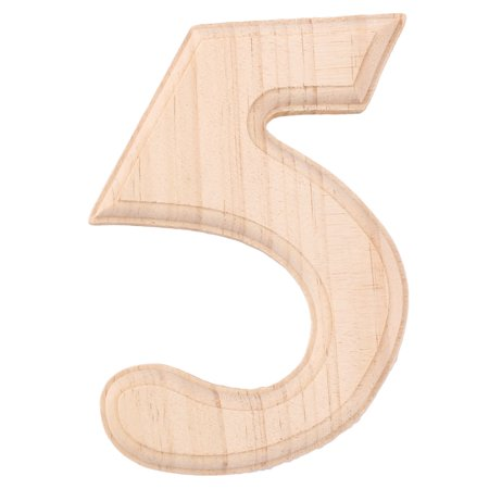 Wedding Birthday Party Wooden Decoration Number 5 Free DIY Table Wall Wood Color Diy Wedding Table