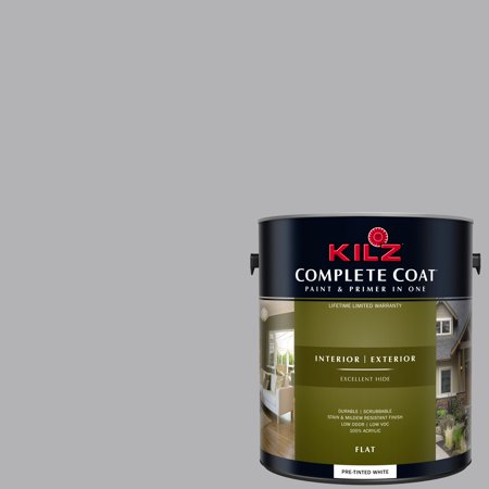 KILZ COMPLETE COAT Interior/Exterior Paint & Primer in One #RL100 Hippopotamus Gray
