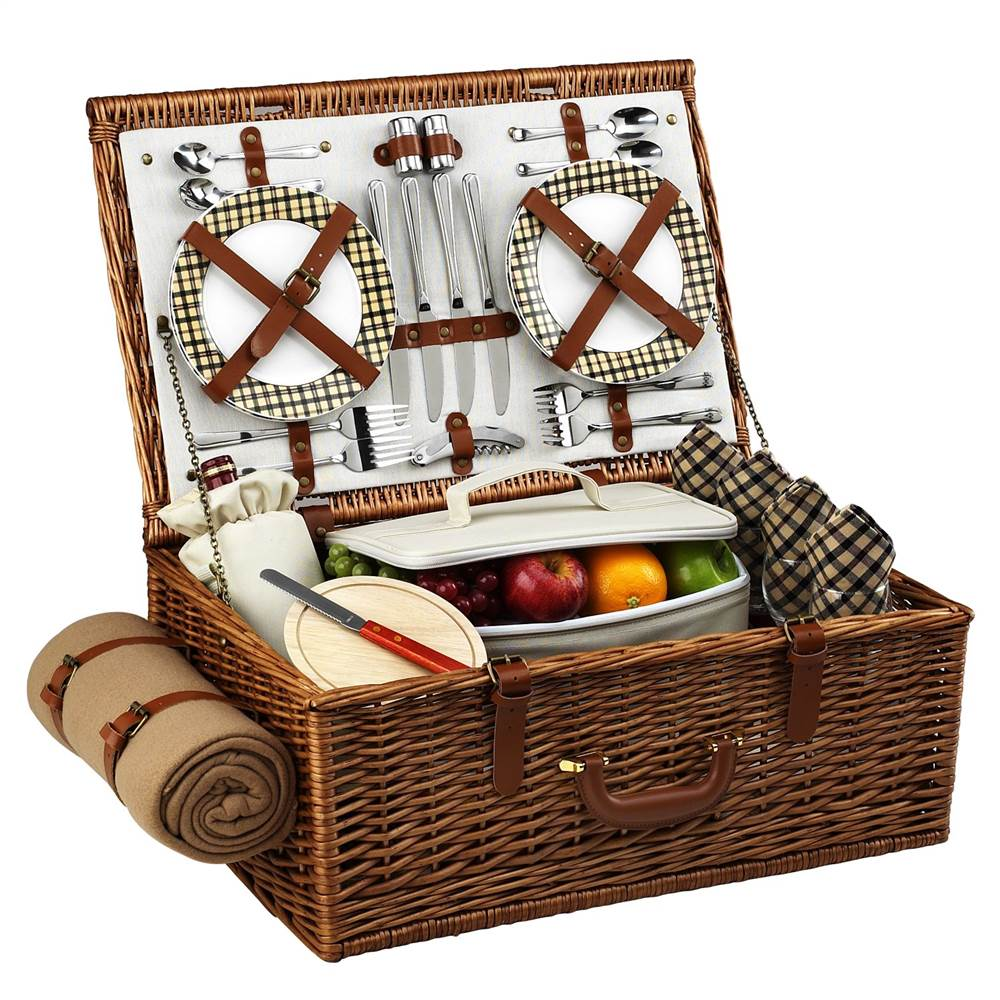 Dorset London Picnic Basket for Four with Blanket
