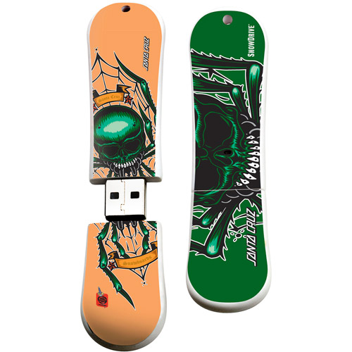 Action Sport Drives 16GB Santa Cruz USB Snow Drive, Spider