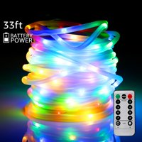 TORCHSTAR Christmas LED String Lights, Color Changing Outdoor String Lights