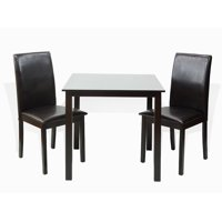 SK New Interiors Dining Kitchen Set of Classic Square Table and 2 Fallabella Chairs Solid Wooden, Espresso
