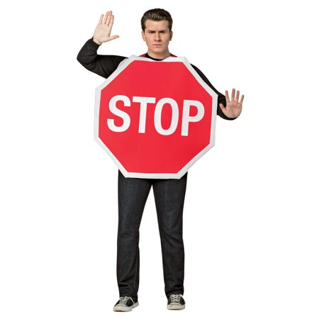 Stop Sign Men's Adult Halloween Costume, One Size, (40-46)](Stop Sign Costume)